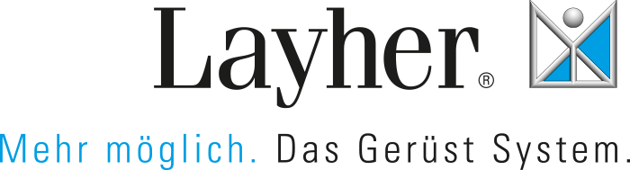 Gerüstbau Detterback arbeitet hauptsächlich mit der Firma Layher zusammen.